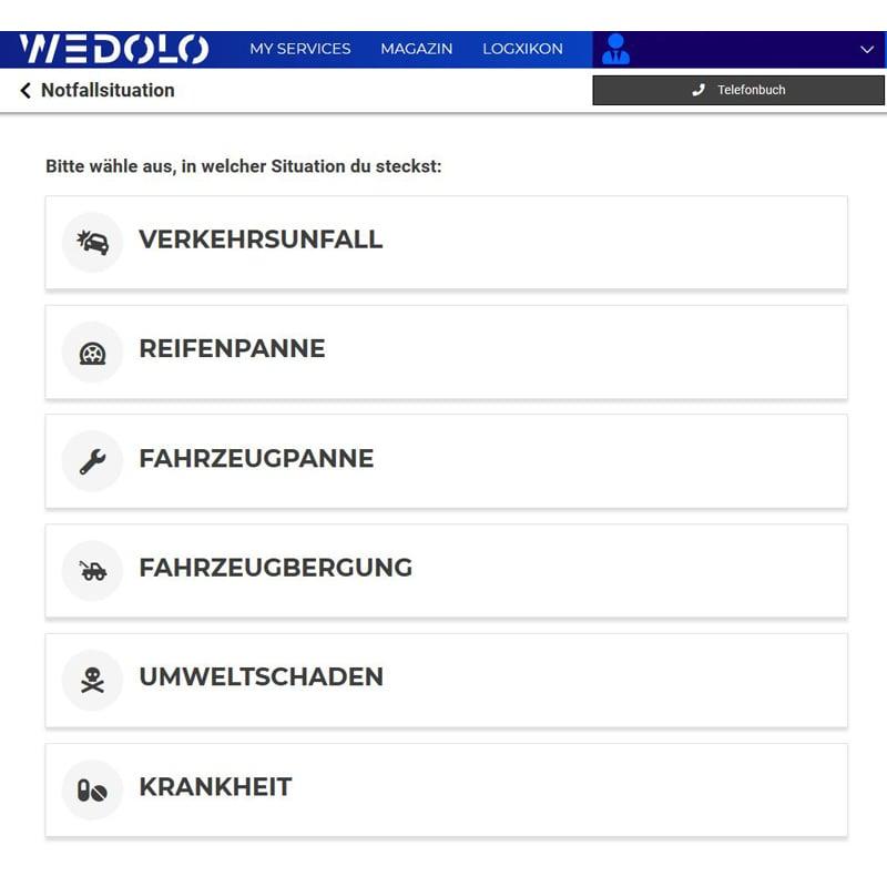 Notfall Krise Notfallsituation App Wedolo Panne